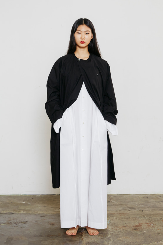 S/S18 PLUTO TWO-BUTTON LONG SHIRT(BLACK)