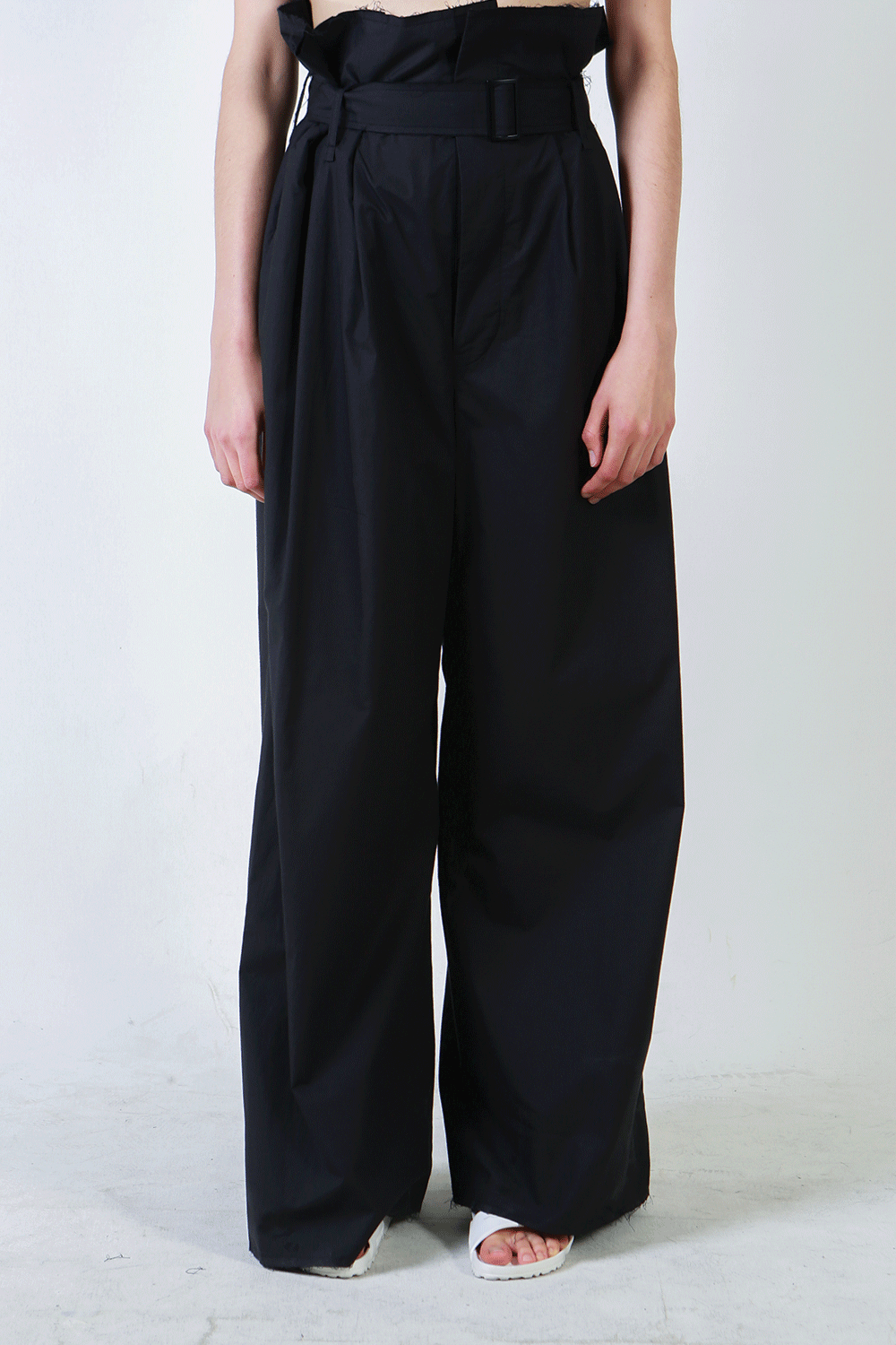 S/S18 MOON HIGH WAIST PANTS_BLACK