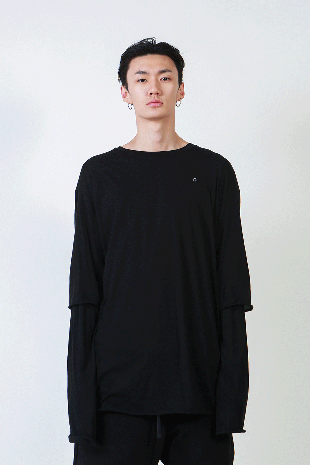 F/W18 HIMA DOUBLE T-SHIRT_BLACK